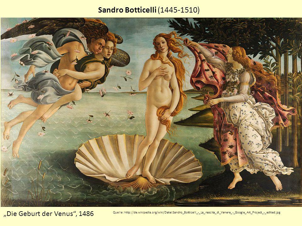 """Sandro Botticelli (1445-1510) """"Die Geburt der Venus , 1486"""