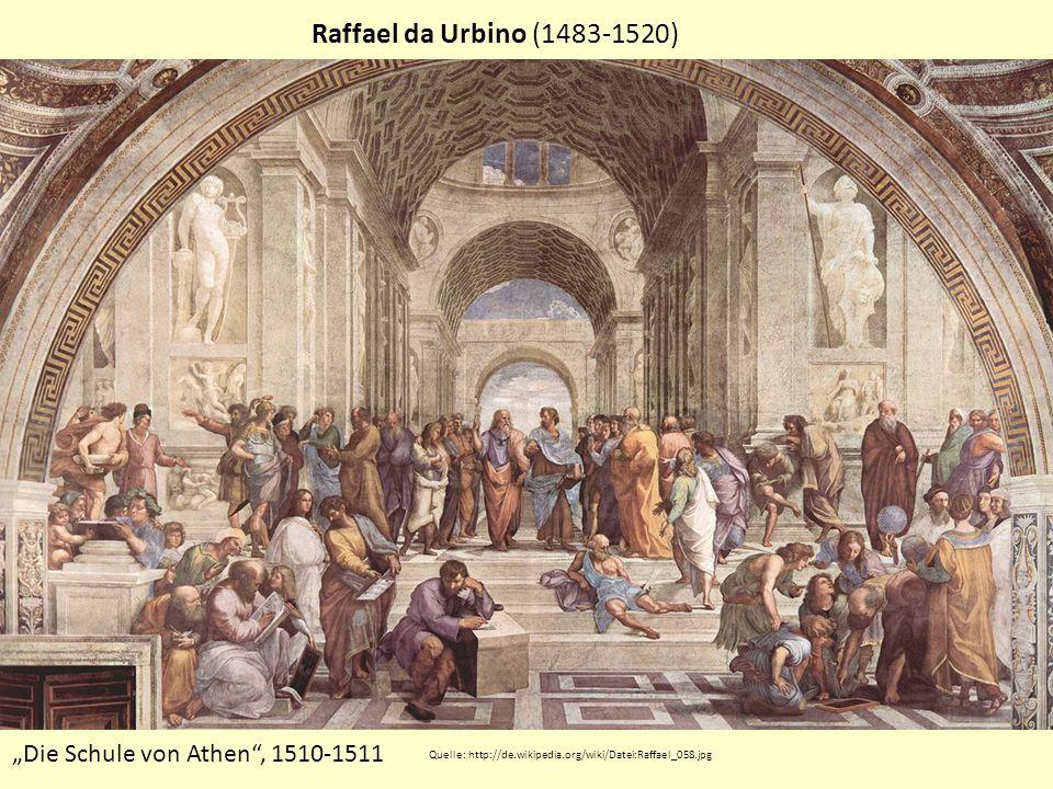 """Raffael da Urbino (1483-1520) """"Die Schule von Athen , 1510-1511"""