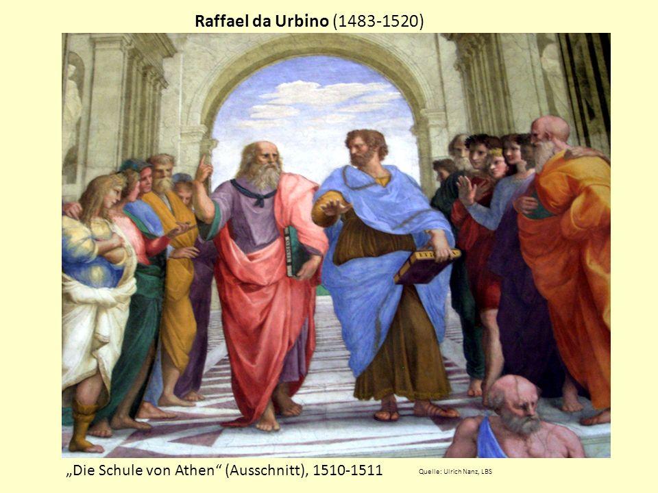 """Raffael da Urbino (1483-1520) """"Die Schule von Athen (Ausschnitt), 1510-1511."""