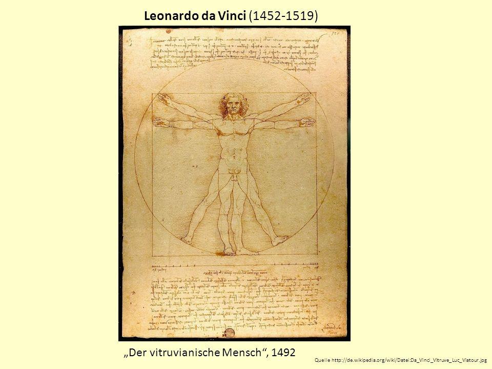 "Leonardo da Vinci (1452-1519) ""Der vitruvianische Mensch , 1492"