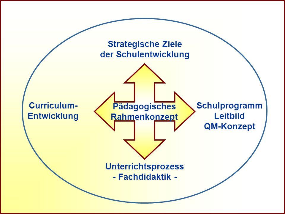 Unterrichtsprozess - Fachdidaktik - Strategische Ziele. der Schulentwicklung. Curriculum- Entwicklung.