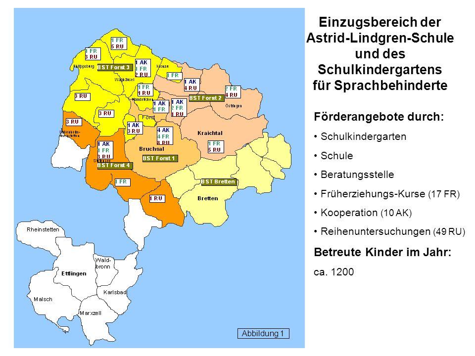 Einzugsbereich der Astrid-Lindgren-Schule und des Schulkindergartens für Sprachbehinderte