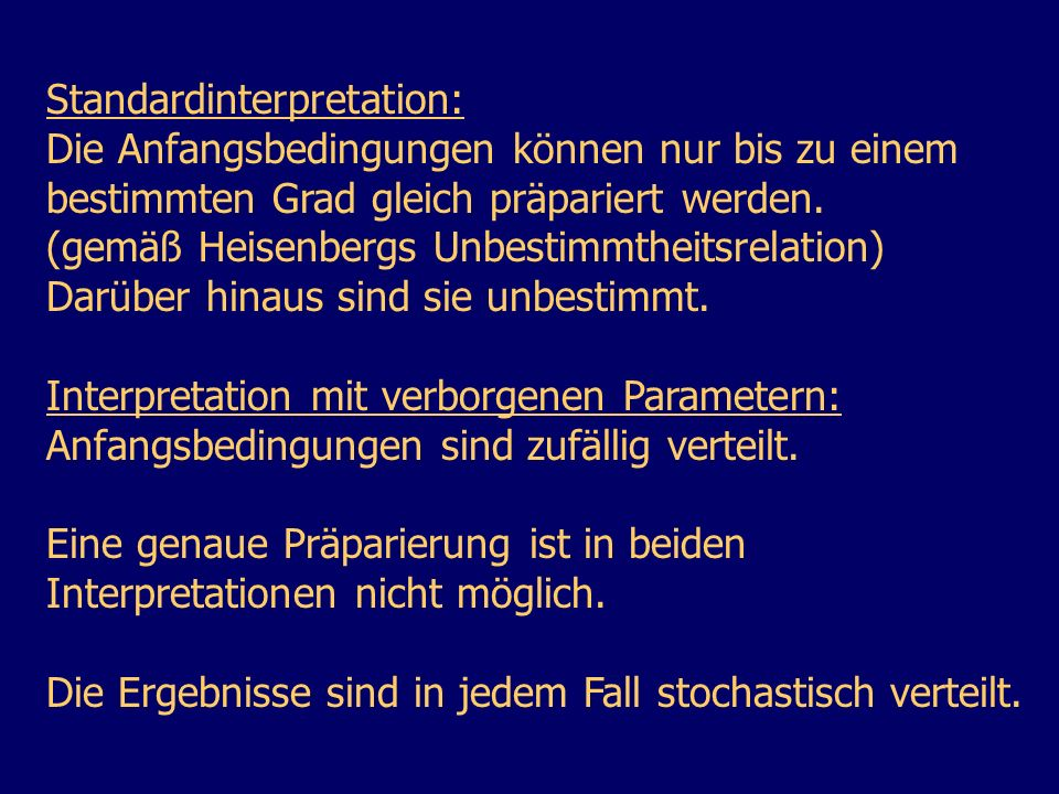 Standardinterpretation: