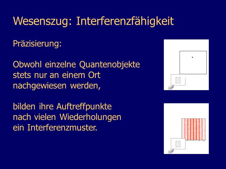 Wesenszug: Interferenzfähigkeit