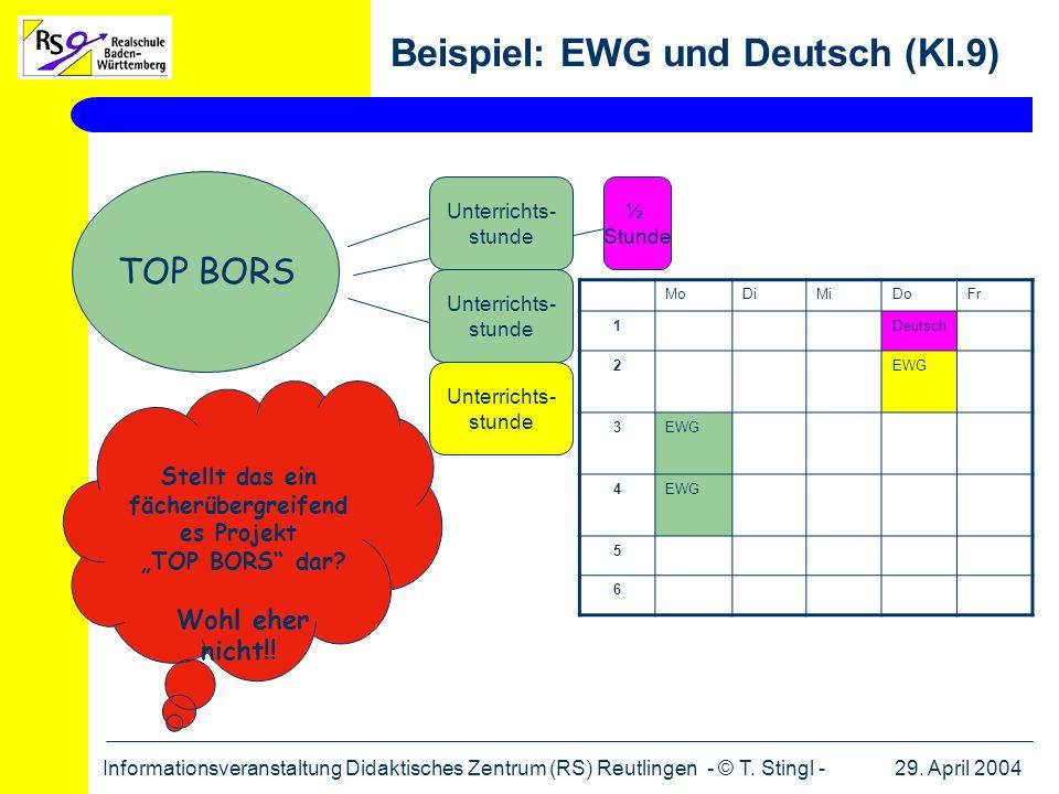 Beispiel: EWG und Deutsch (Kl.9)