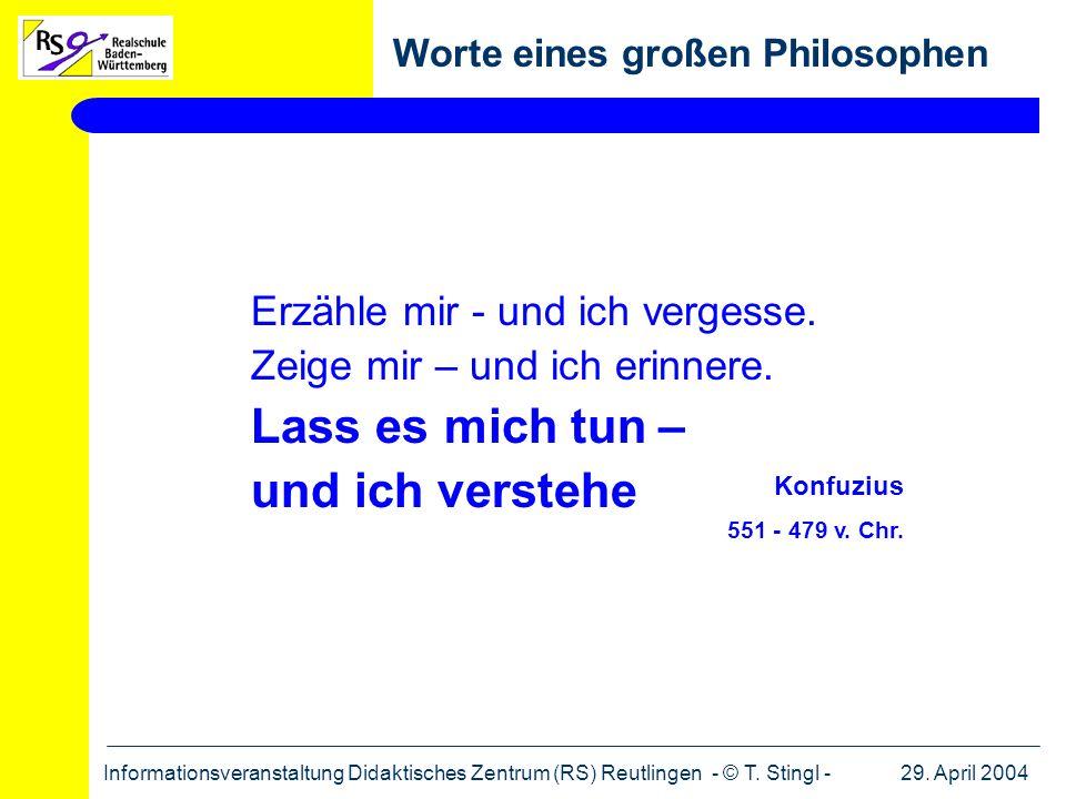 Worte eines großen Philosophen