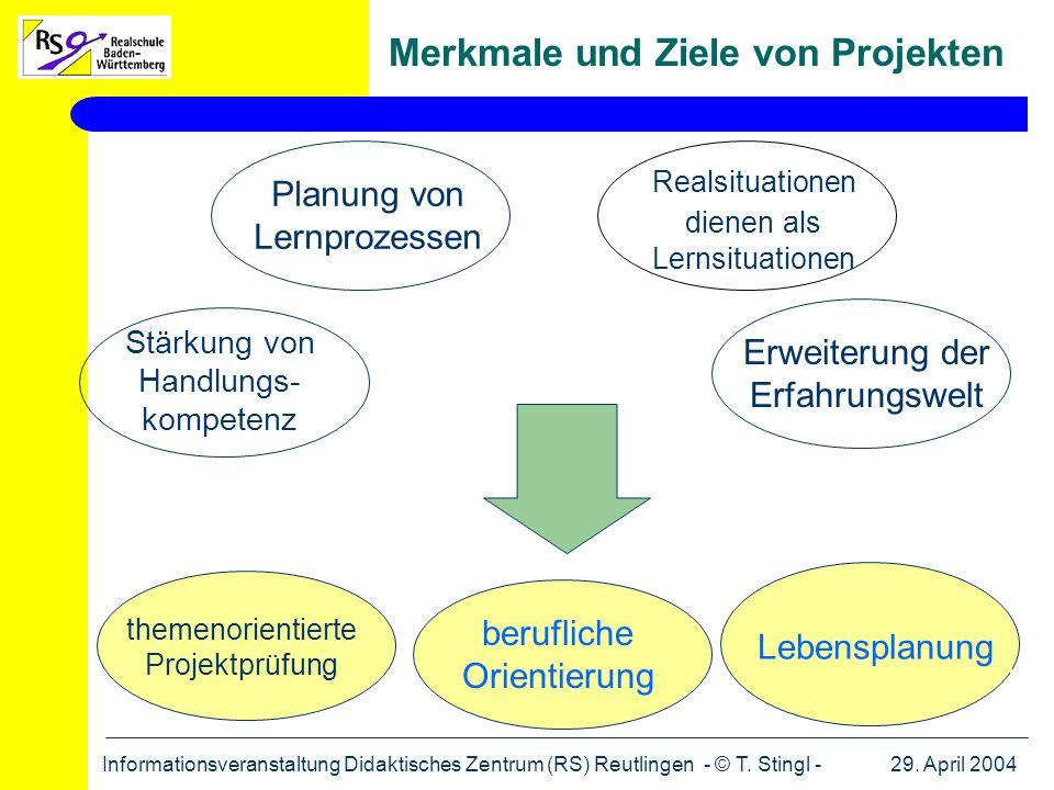 Merkmale und Ziele von Projekten