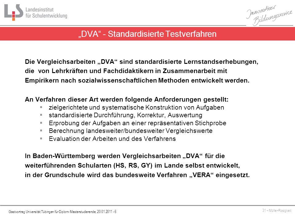 """""""DVA - Standardisierte Testverfahren"""