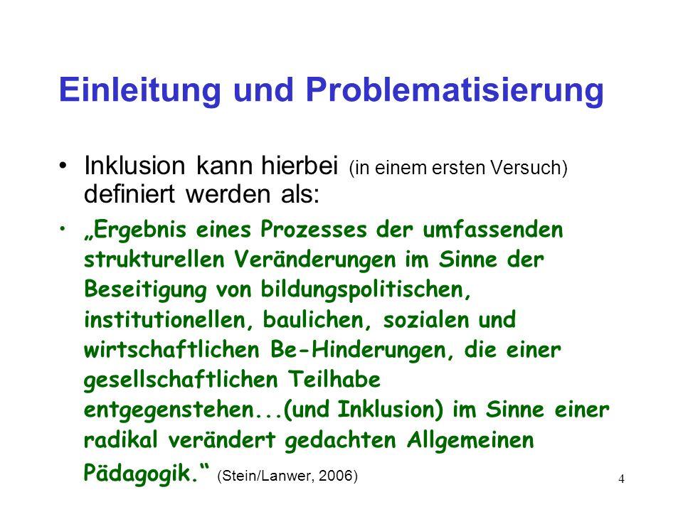 Einleitung und Problematisierung