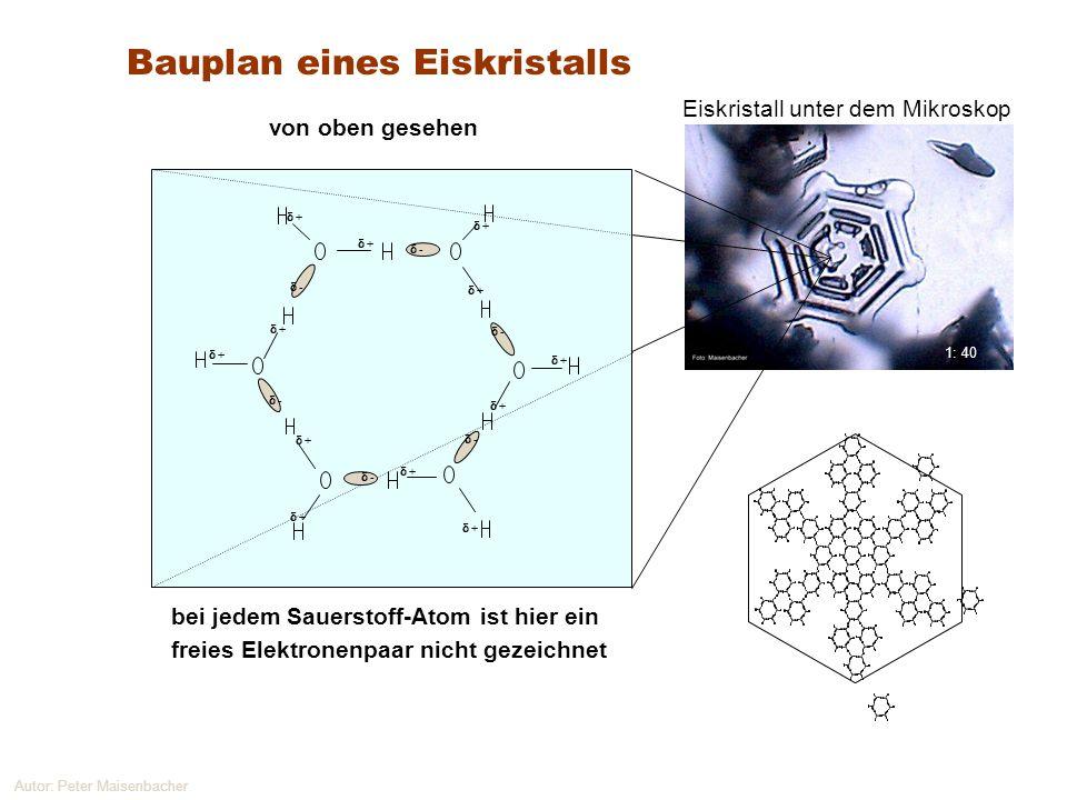 Bauplan eines Eiskristalls