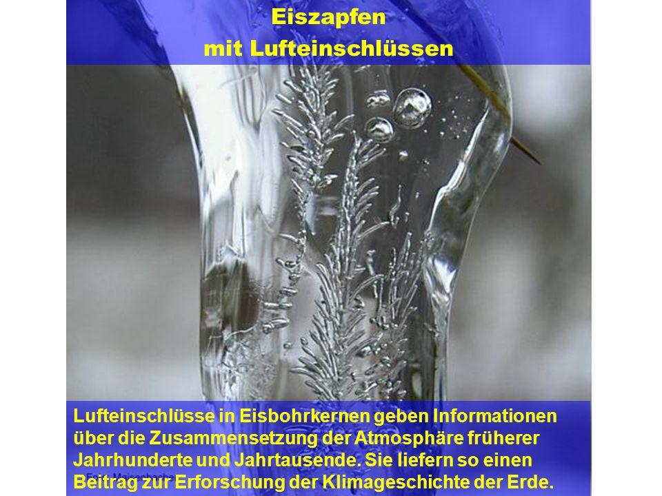 Eiszapfen mit Lufteinschlüssen