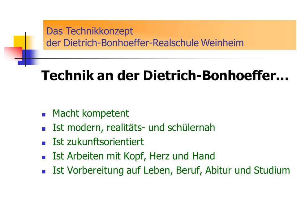 Technik an der Dietrich-Bonhoeffer…