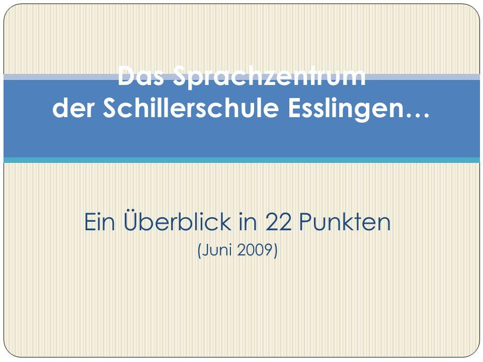 Das Sprachzentrum der Schillerschule Esslingen…