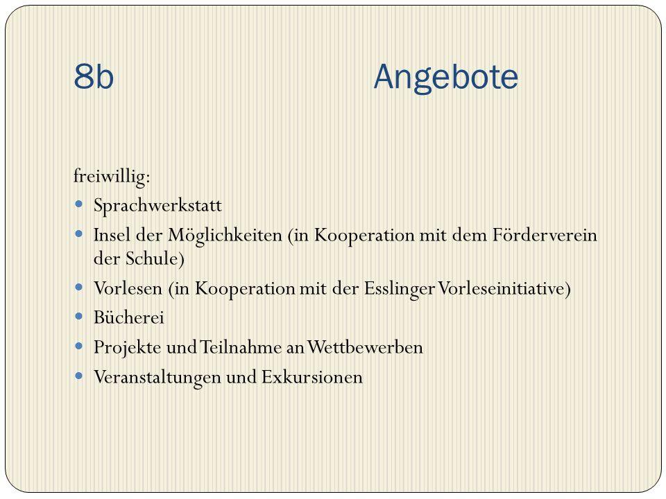 8b Angebote freiwillig: Sprachwerkstatt