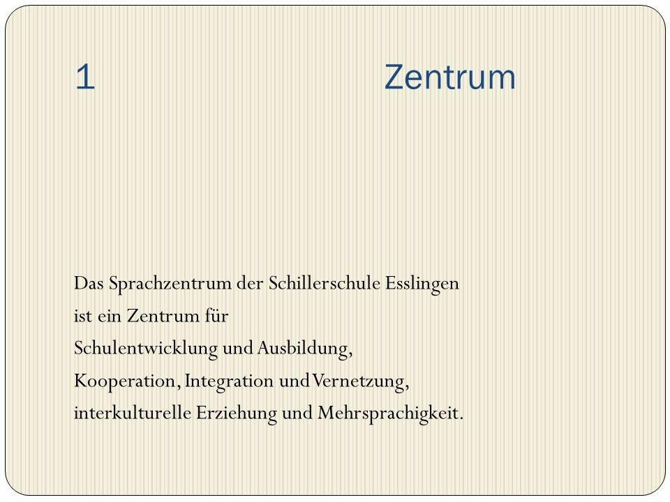 1 Zentrum Das Sprachzentrum der Schillerschule Esslingen