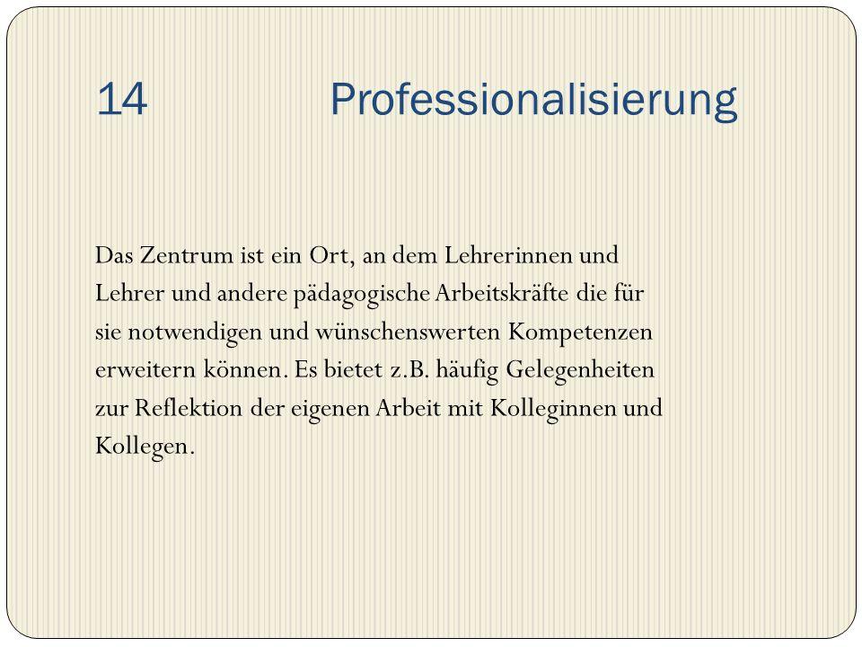 14 Professionalisierung