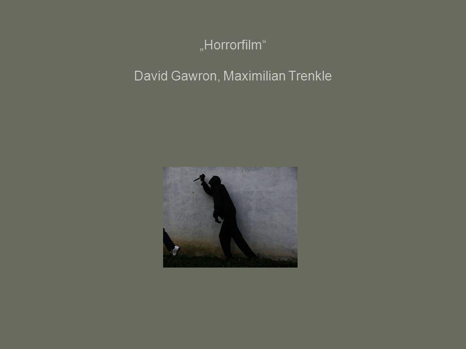 """Horrorfilm David Gawron, Maximilian Trenkle"