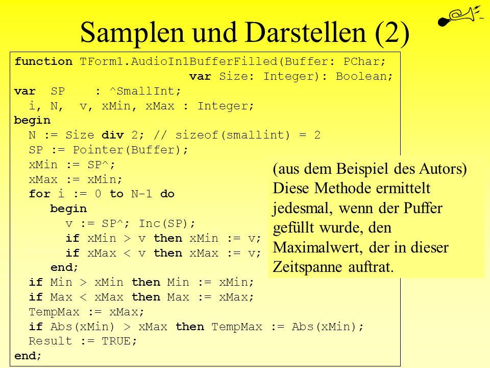 Samplen und Darstellen (2)