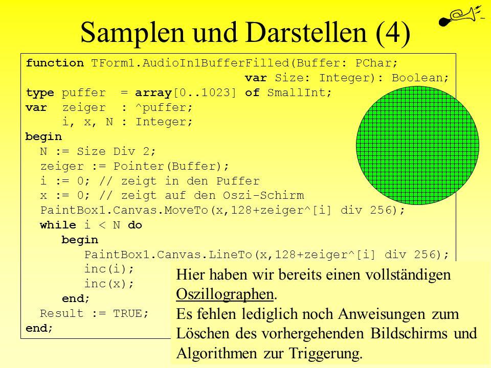 Samplen und Darstellen (4)