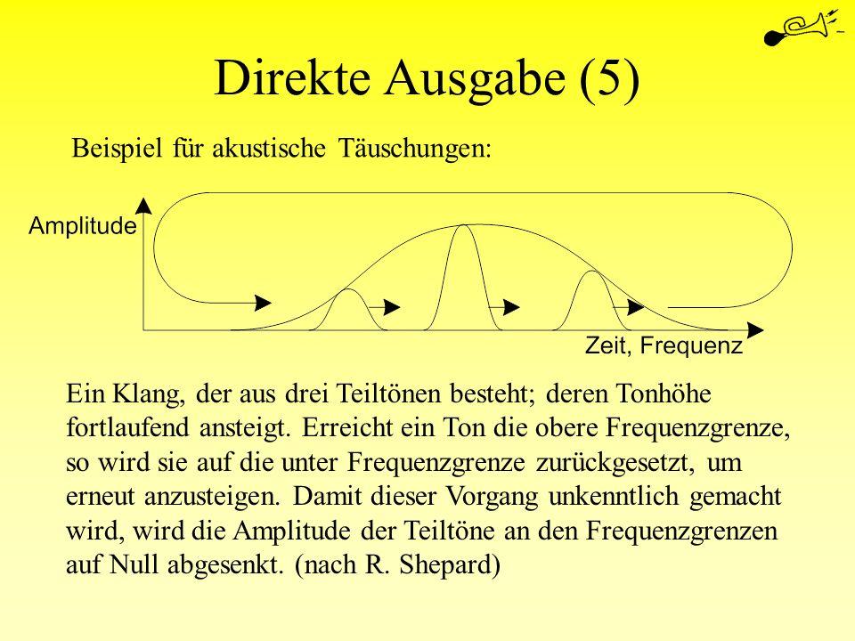 Direkte Ausgabe (5) Beispiel für akustische Täuschungen: