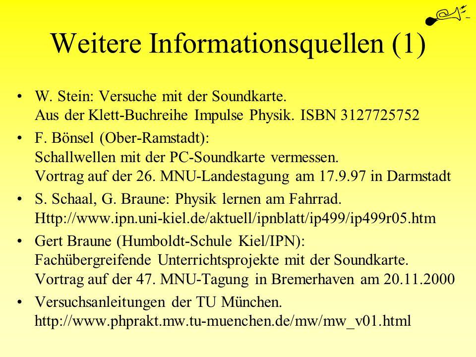 Weitere Informationsquellen (1)