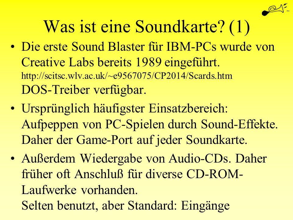 Was ist eine Soundkarte (1)