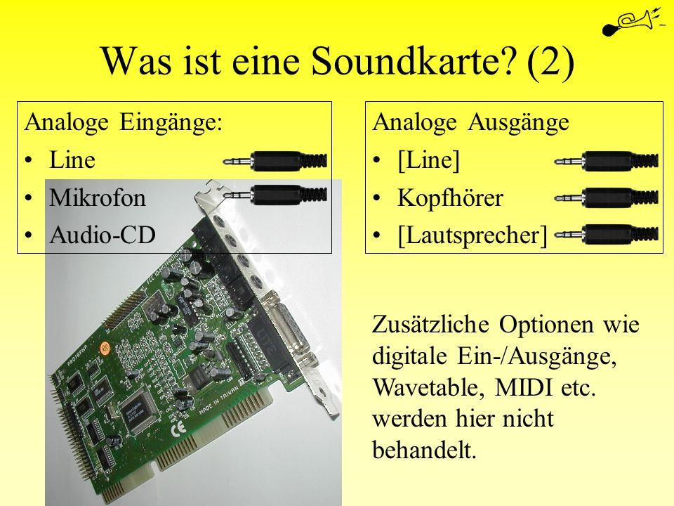Was ist eine Soundkarte (2)