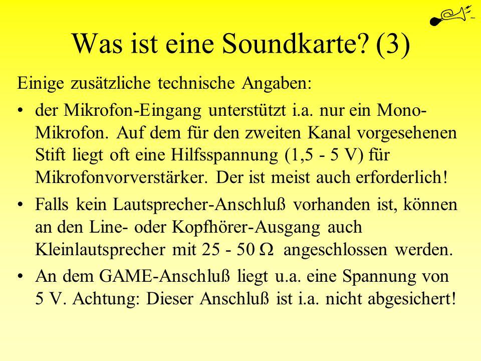 Was ist eine Soundkarte (3)