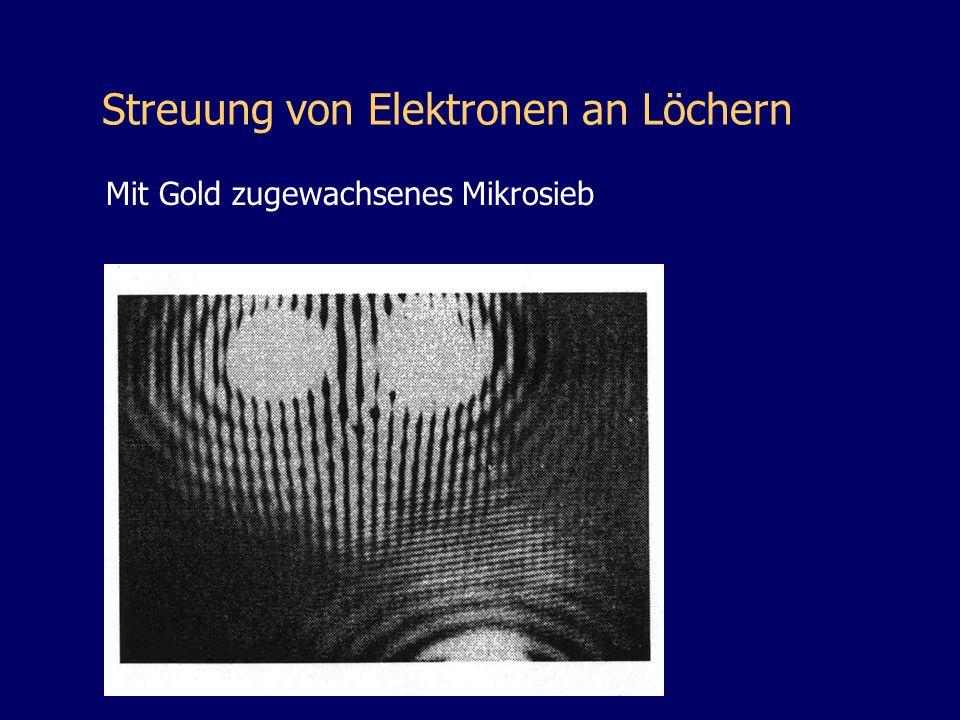Streuung von Elektronen an Löchern