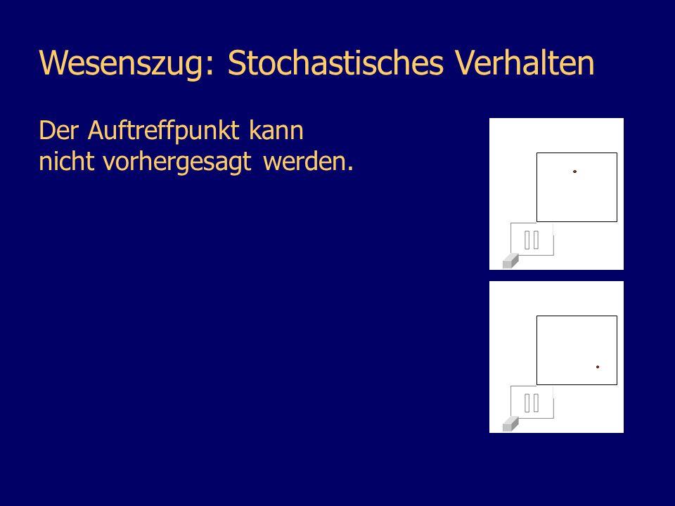 Wesenszug: Stochastisches Verhalten