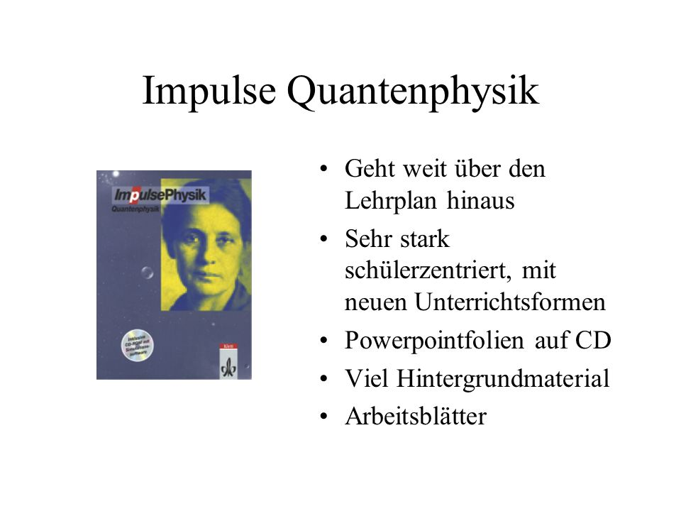 Impulse Quantenphysik