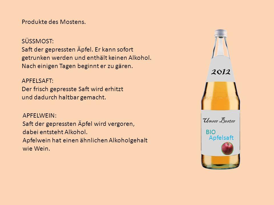 2012 Produkte des Mostens. SÜSSMOST: