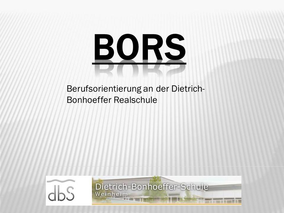 Berufsorientierung an der Dietrich-Bonhoeffer Realschule
