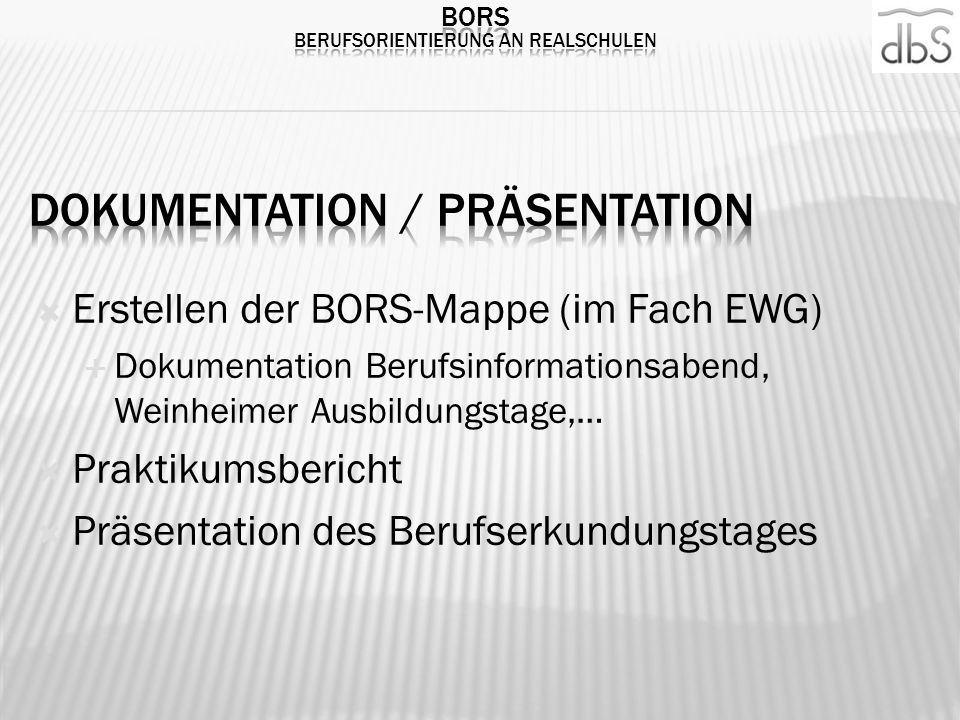 Dokumentation / Präsentation