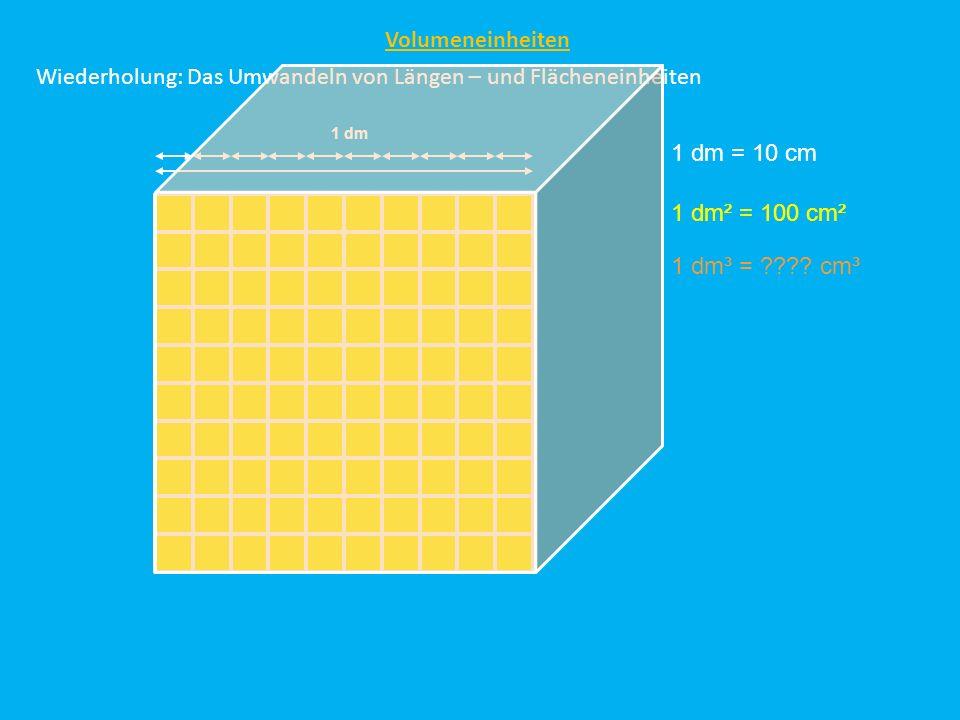 Wiederholung: Das Umwandeln von Längen – und Flächeneinheiten
