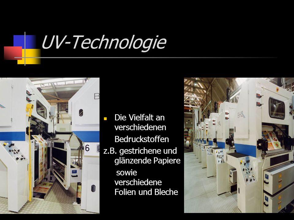 UV-Technologie Die Vielfalt an verschiedenen Bedruckstoffen