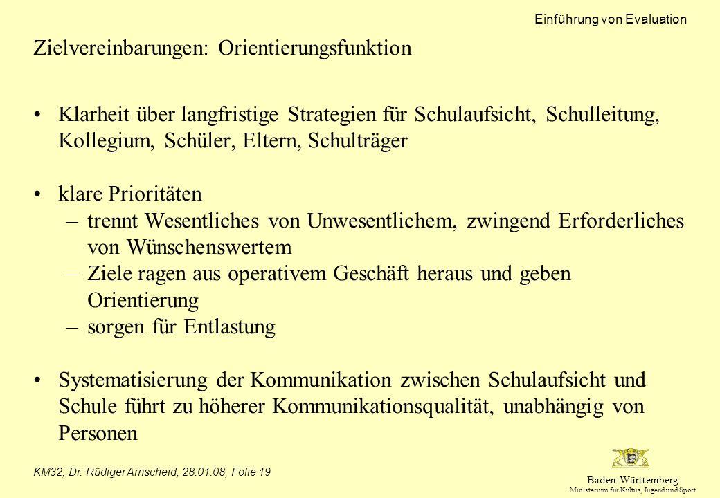 Zielvereinbarungen: Orientierungsfunktion