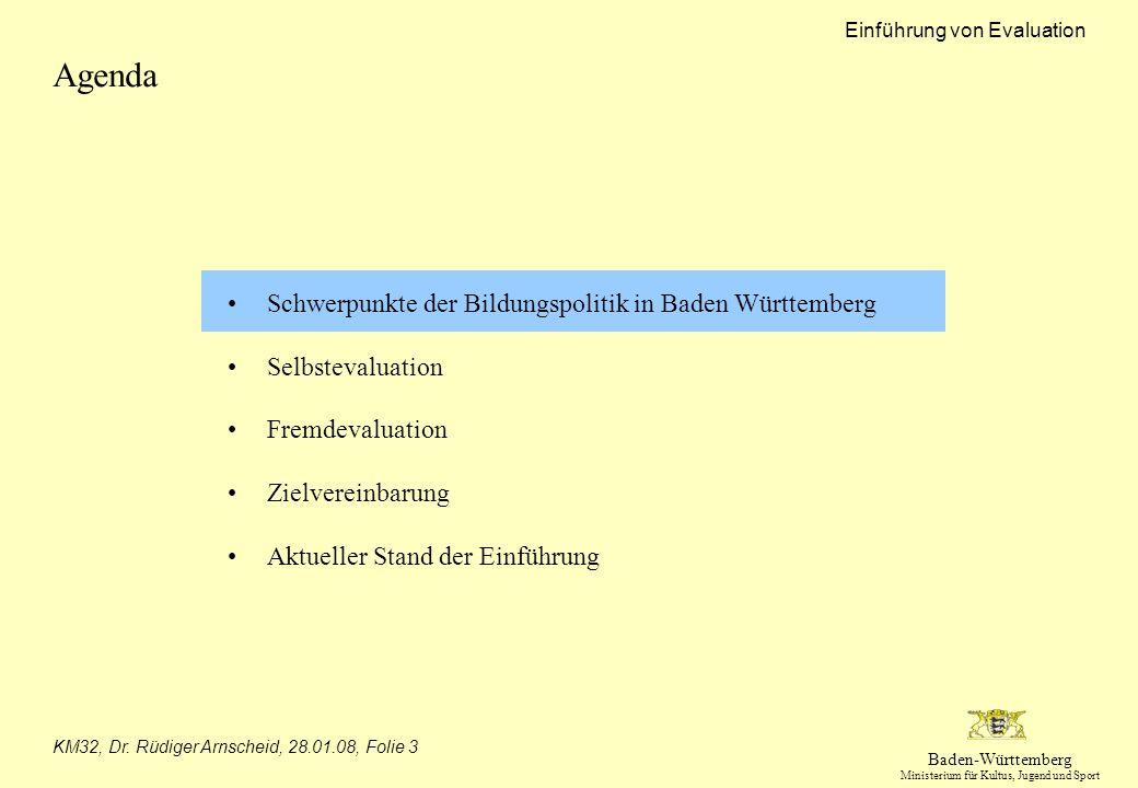 Agenda Schwerpunkte der Bildungspolitik in Baden Württemberg