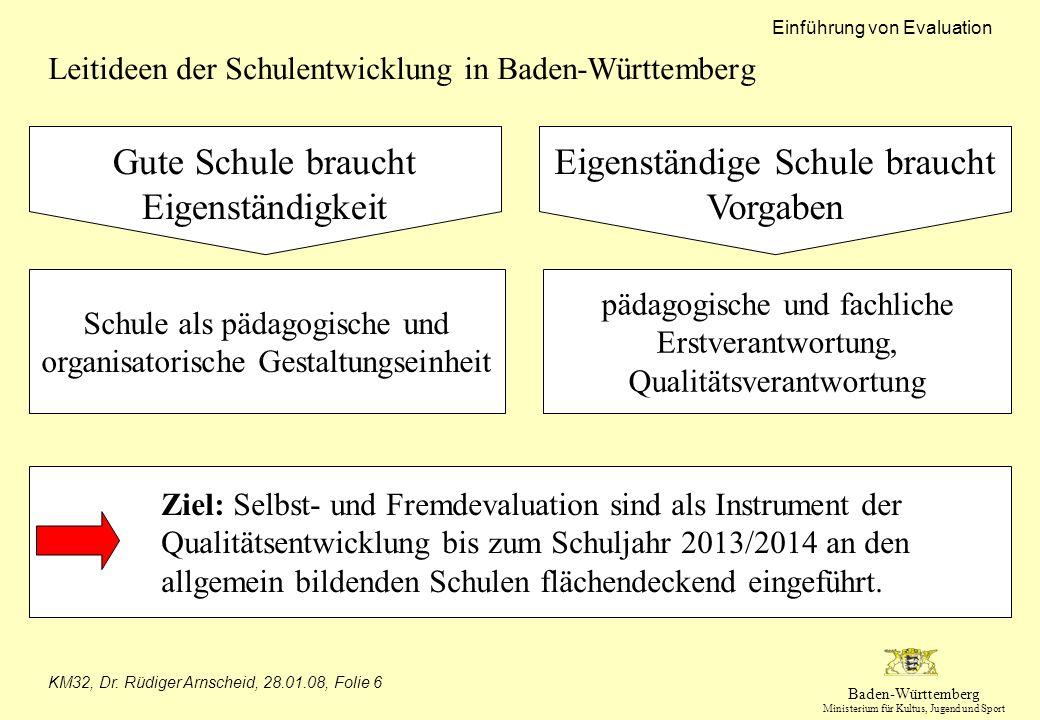 Leitideen der Schulentwicklung in Baden-Württemberg