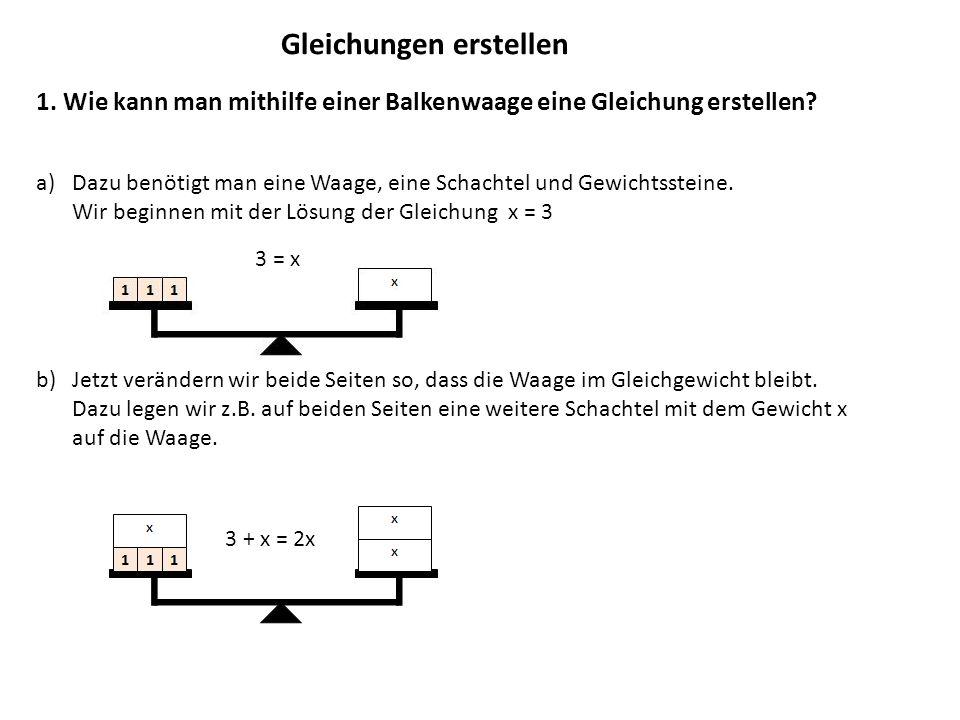 Gleichungen erstellen