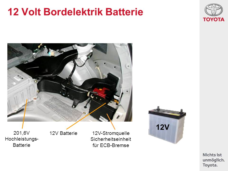 12 Volt Bordelektrik Batterie
