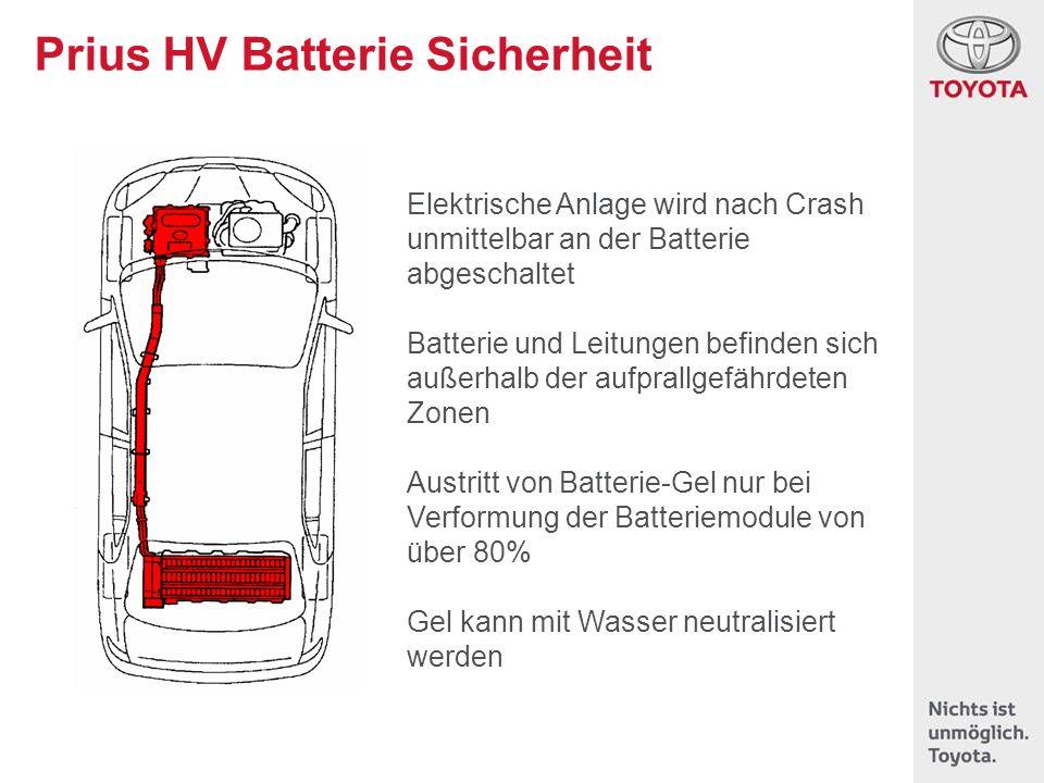 Prius HV Batterie Sicherheit