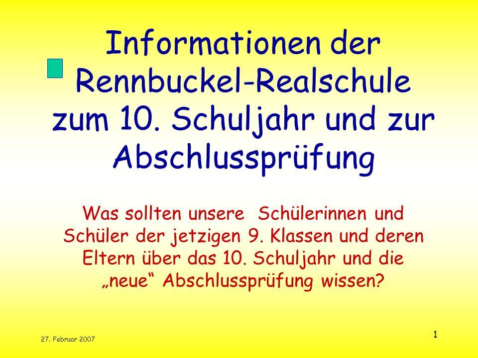 Informationen der Rennbuckel-Realschule zum 10