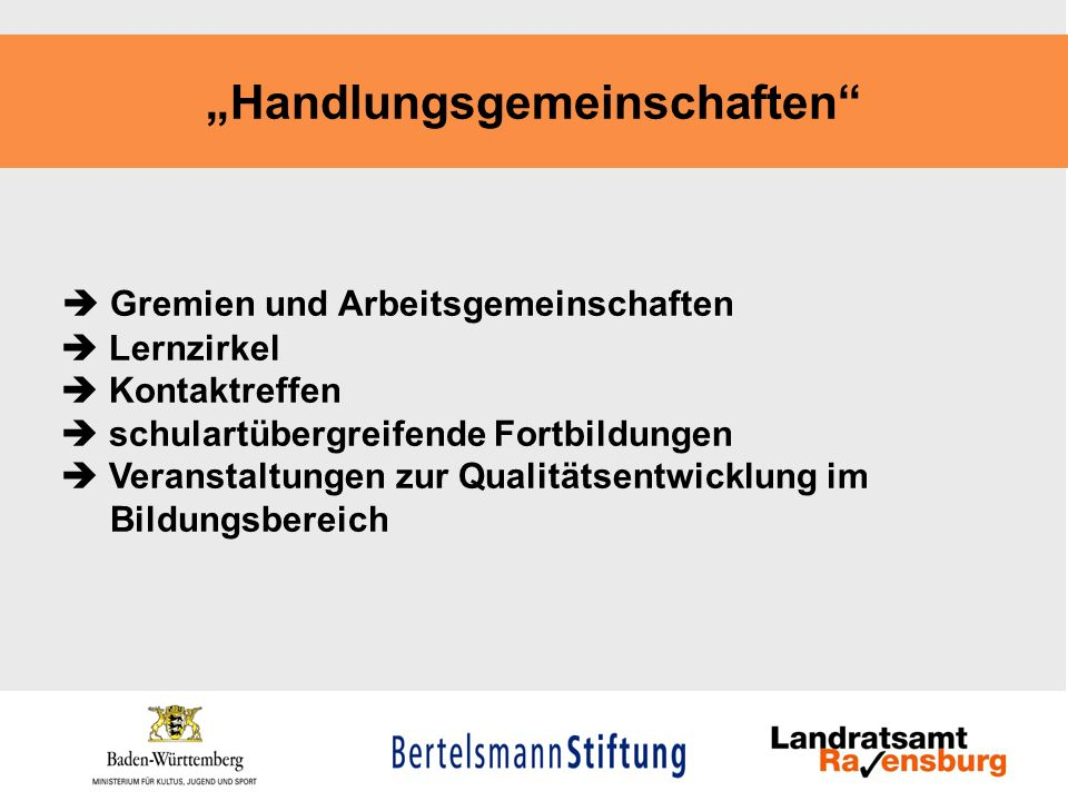 """""""Handlungsgemeinschaften"""