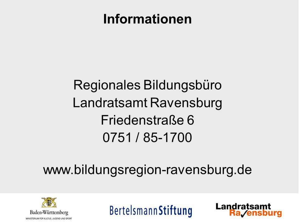 Regionales Bildungsbüro Landratsamt Ravensburg Friedenstraße 6