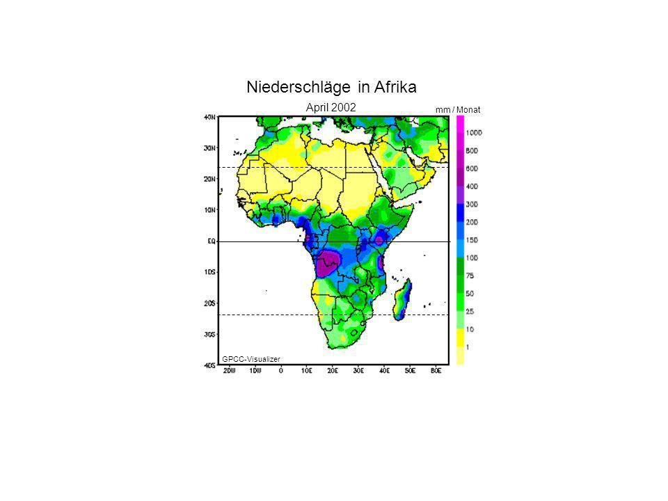 Niederschläge in Afrika