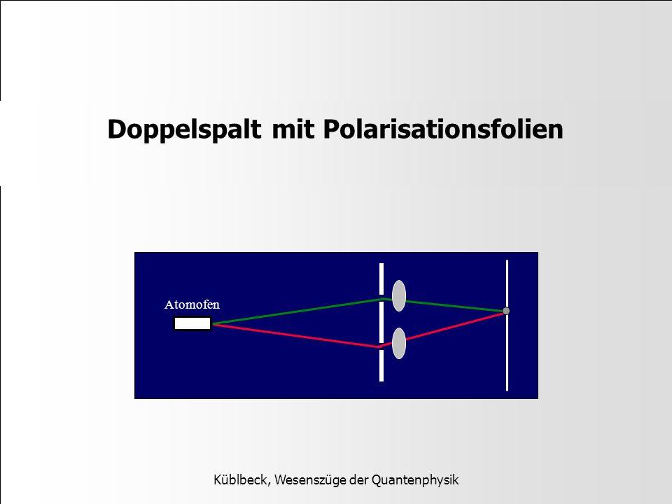Doppelspalt mit Polarisationsfolien