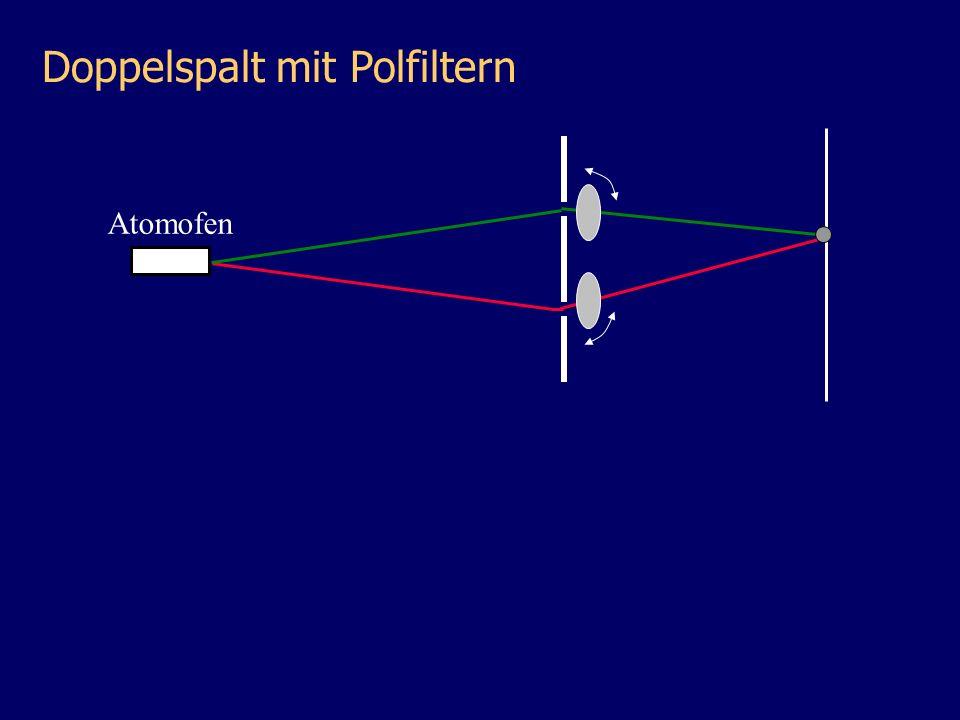 Doppelspalt mit Polfiltern