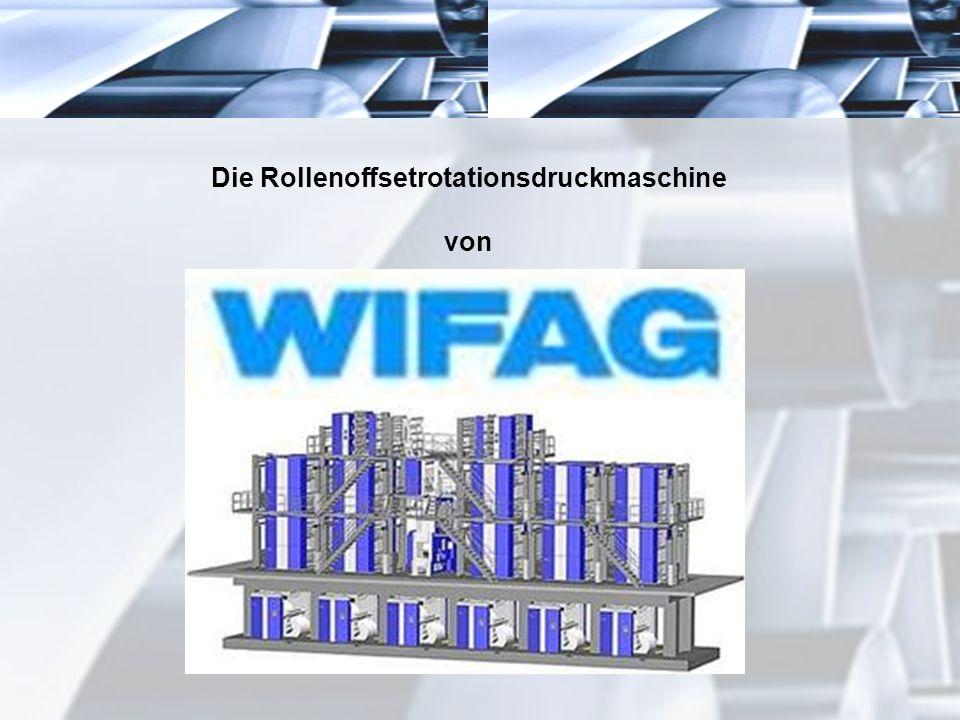 Die Rollenoffsetrotationsdruckmaschine von