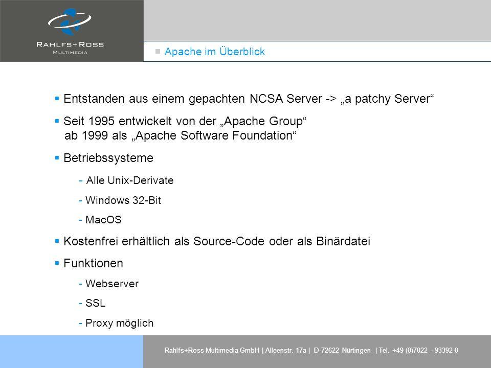 """Entstanden aus einem gepachten NCSA Server -> """"a patchy Server"""